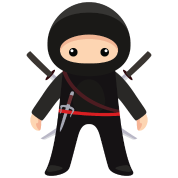 Cute ninja png. Kids premium t shirt