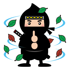 Cute ninja png. Style line stickers store