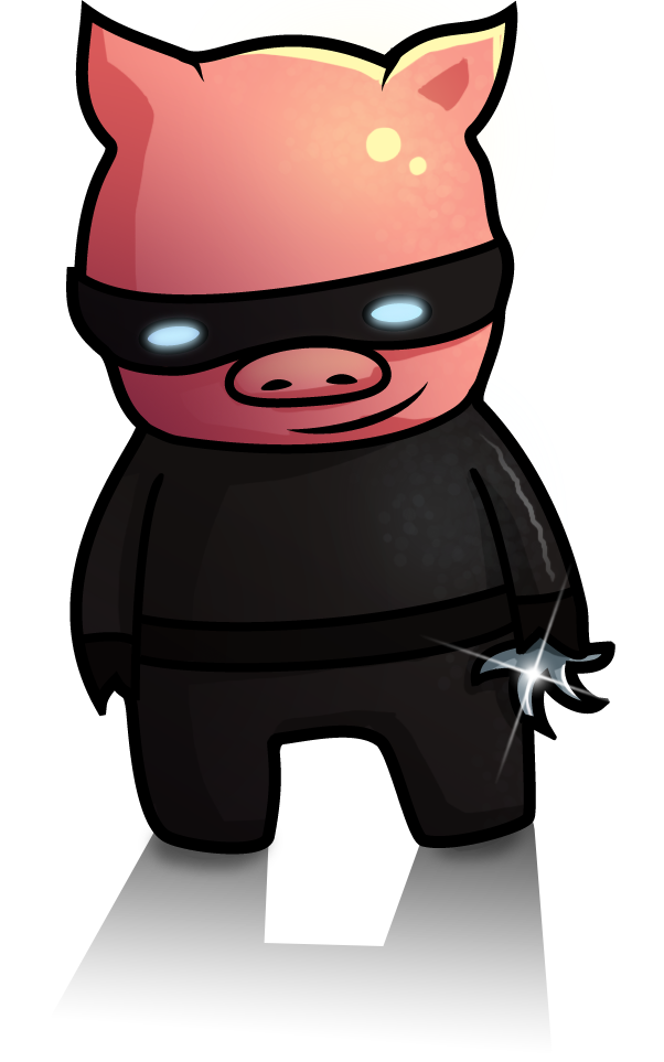 Cute ninja png. Pig by droganaida on
