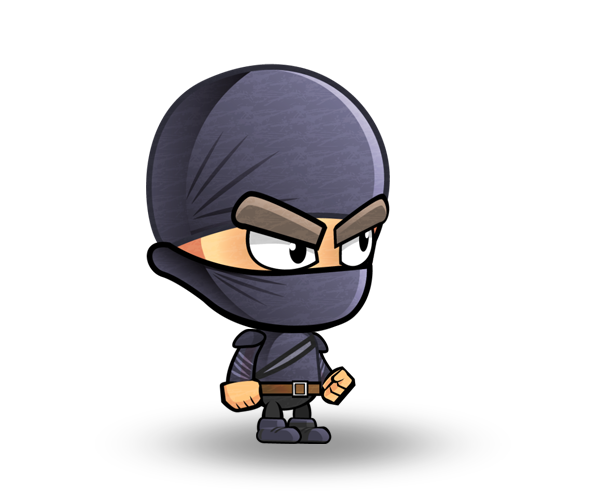 Cute ninja png. Sultry white character set
