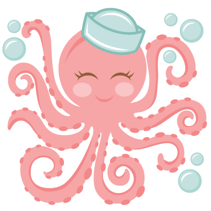 Cute octopus png. Miss kate svg cut