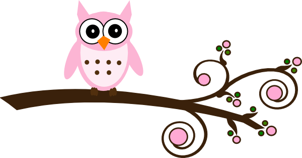 Pink owl png. Free cartoon download clip