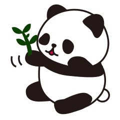 Panda stickers png. Sticker of the cute