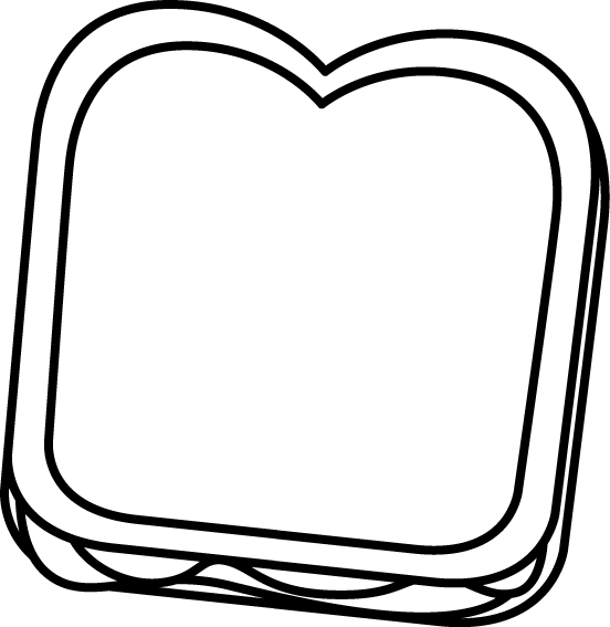 Cute peanut butter and jelly png. Clip art images black