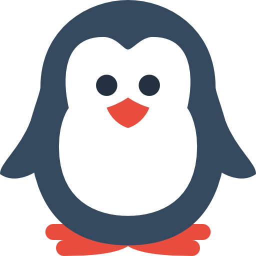 Cute penguin png. Image royalty free stock