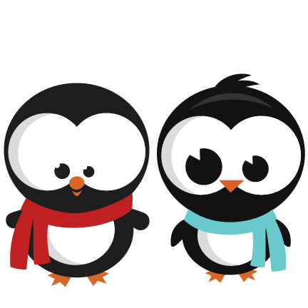 Cute penguin png. Set svg cutting files