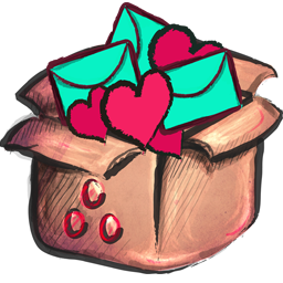 Cute png icons. Box full icon crayon