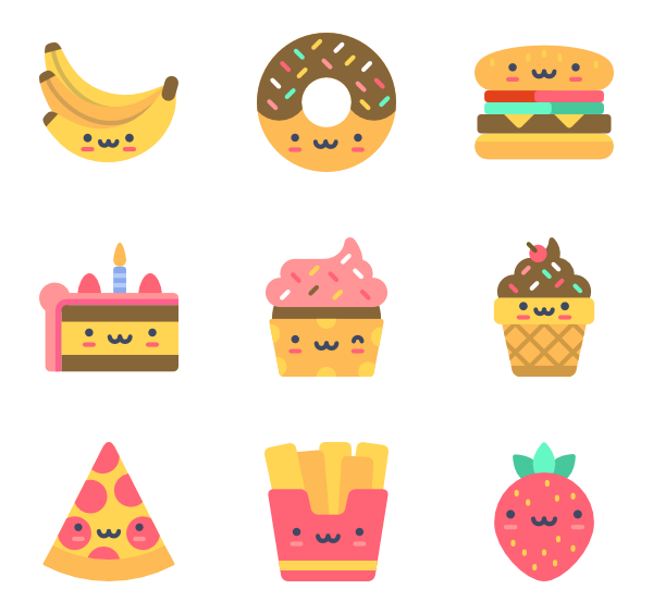 Cute png icons. Icon packs vector