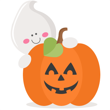 Cute pumpkin png. Ghost with svg scrapbook