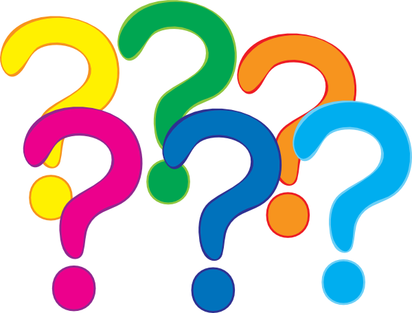 Cute question mark png. Clip art coloured marks
