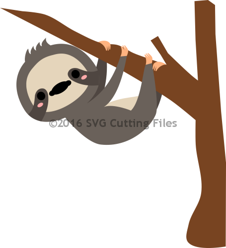 sloth silhouette png