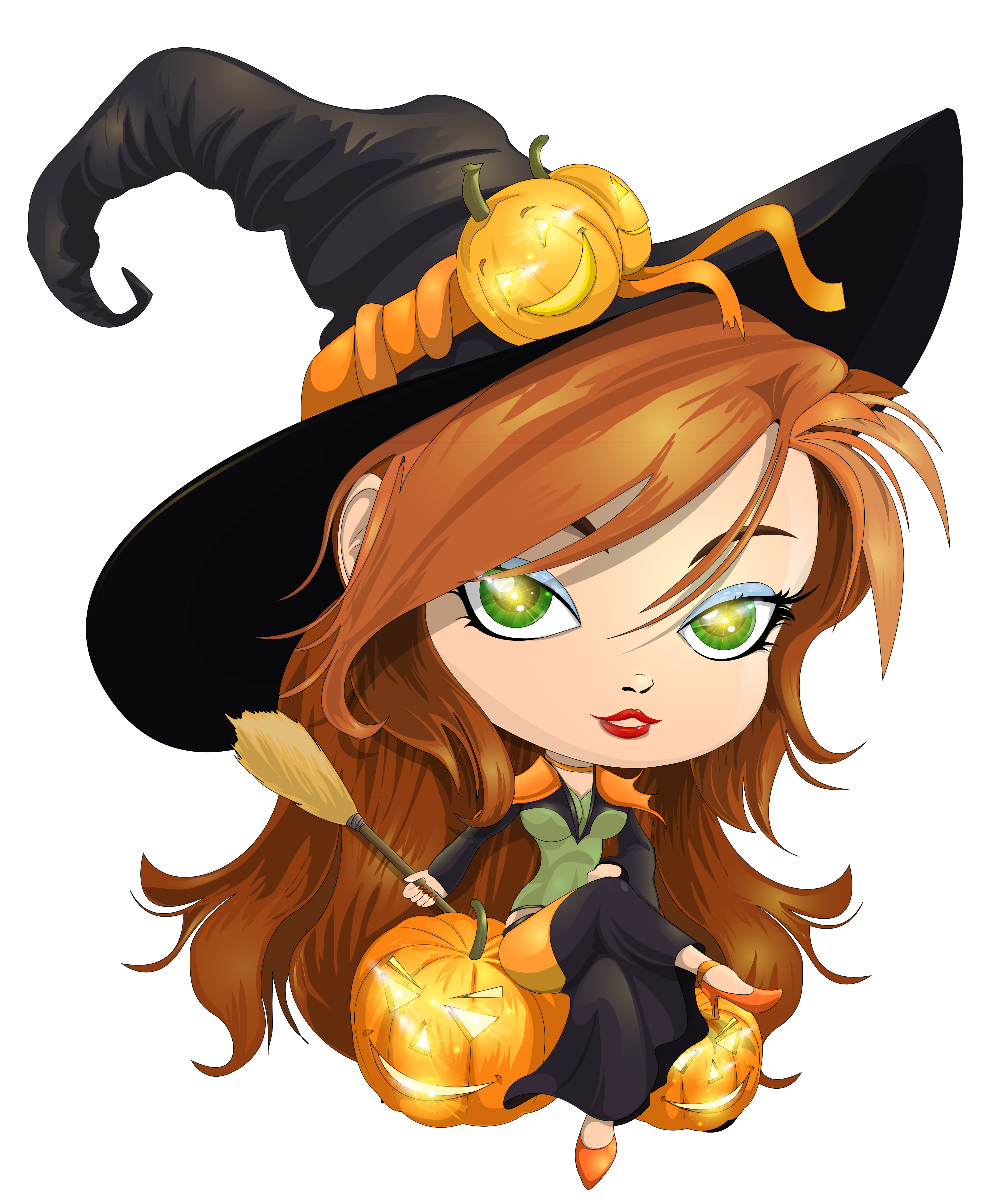 Cute witch png. Transparent clipart picture gallery