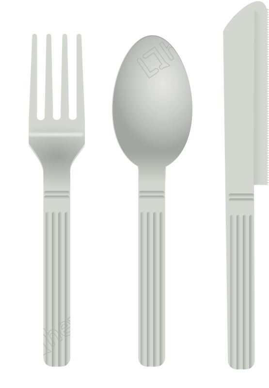 Kitchenware vector kitchen cutlery. Fork and spoon free