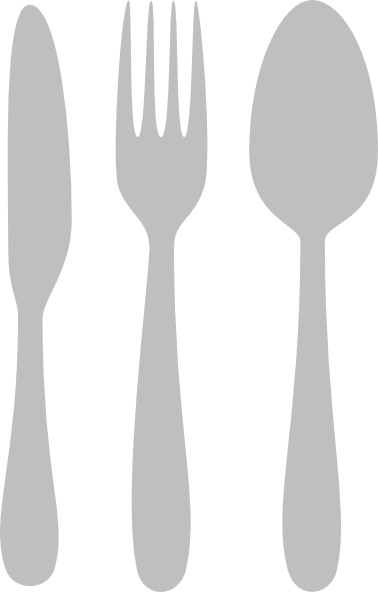 Vector spoon silverware. Silver cutlery clip art