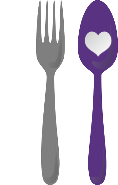 Cutlery vector cartoon. Heart clip art at