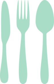 Mint cutlery clip art. Catering clipart silverware svg transparent stock