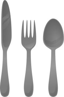 Cutlery vector silhouette. File svg wikimedia commons