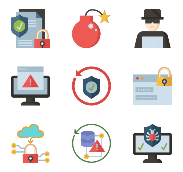 Hacker vector cyber. Icon packs svg