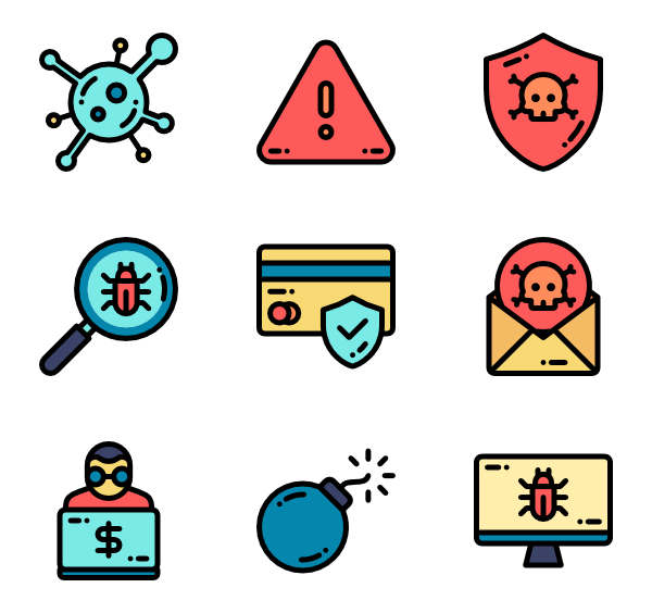 Vector bug computer. Icon packs svg