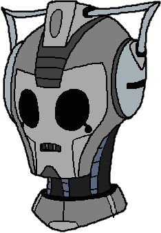 Cyberman drawing. Cartoon head by montatora