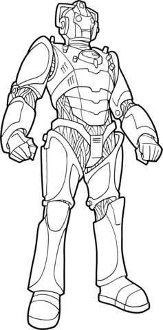 Cyberman drawing human. Products page red dirt