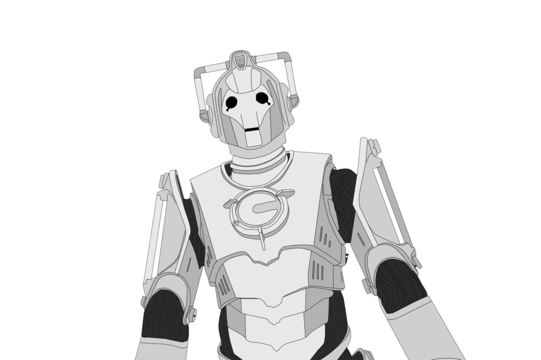 Cyberman drawing. By blackysmith on deviantart