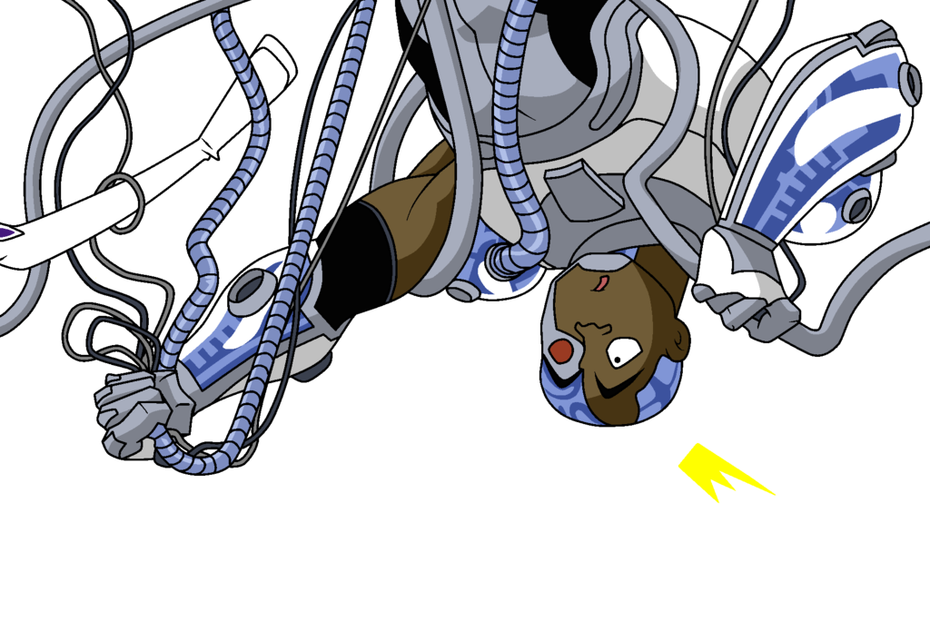 Cyborg wires png