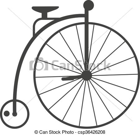 Cycle clipart antique bike. Retro style vintage nineteenth vector freeuse stock