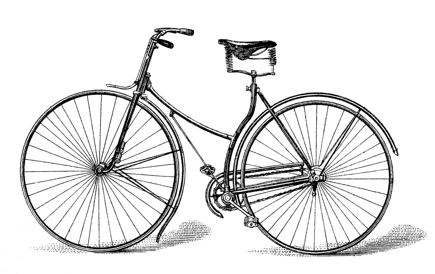 Cycle clipart antique bike. Free vector downloads vintage vector free library