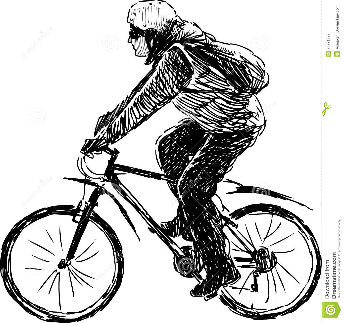 Cycle clipart bicycle drawing. Person riding a bike banner black and white download