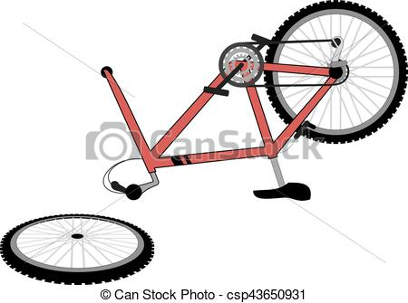 Creative draw of broken. Cycle clipart bicycle drawing jpg free