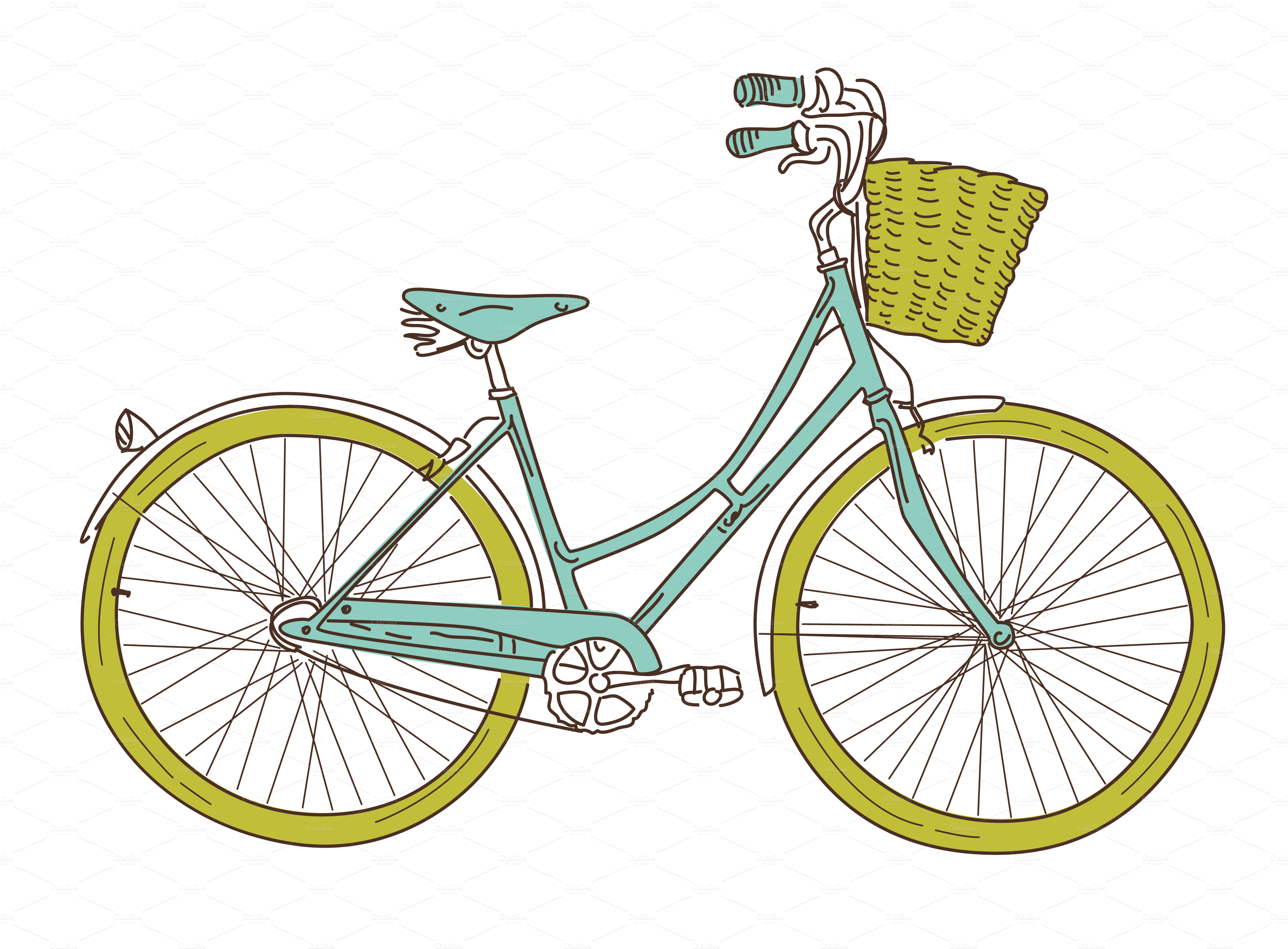 cycle vector blue bike