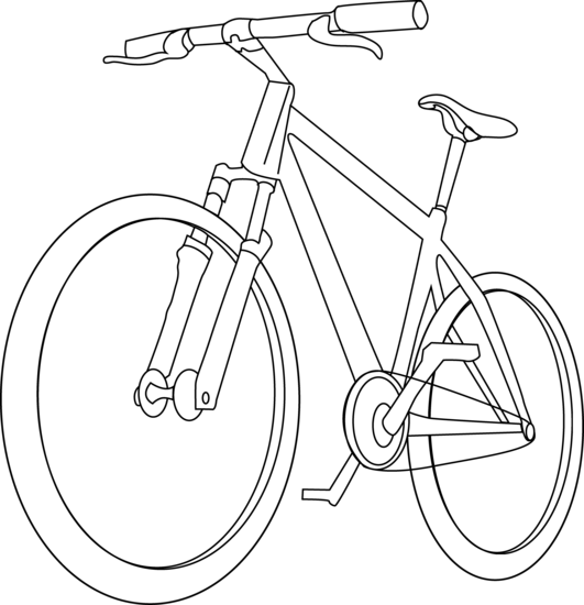 Simple bike at getdrawings. Cycle clipart bicycle drawing picture library download