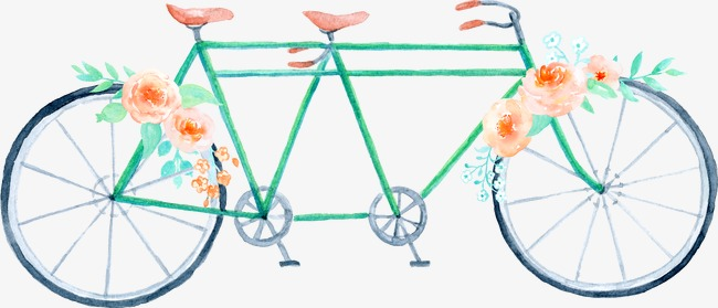 Cycle clipart bicycle drawing. Double hand painted watercolor