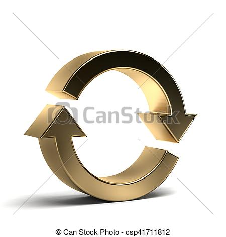 Rotate arrows concept for. Cycle clipart continuous graphic black and white stock