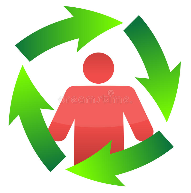 Icon around a movement. Cycle clipart continuous banner free