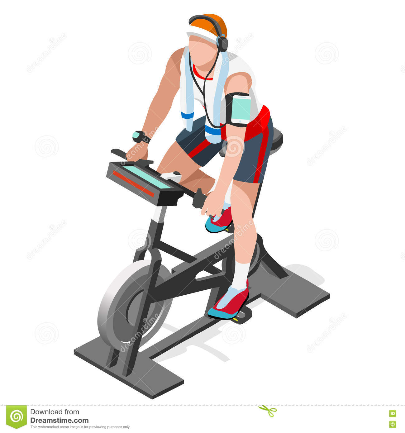 Man in spinning stock. Cycle clipart cycling class graphic stock