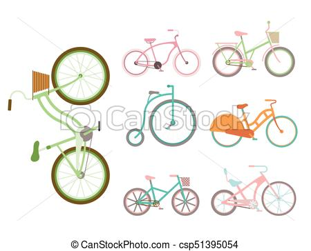Vector bicycles vintage style. Cycle clipart old bicycle png royalty free