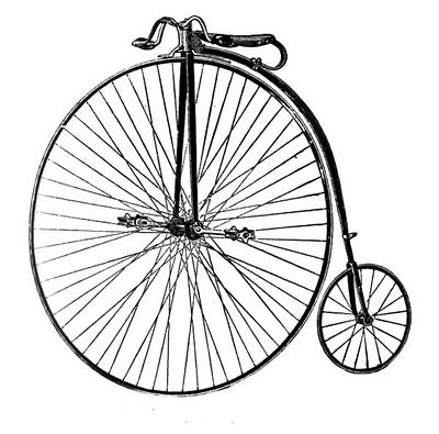 Free clip art fashioned. Cycle clipart old bicycle png black and white download