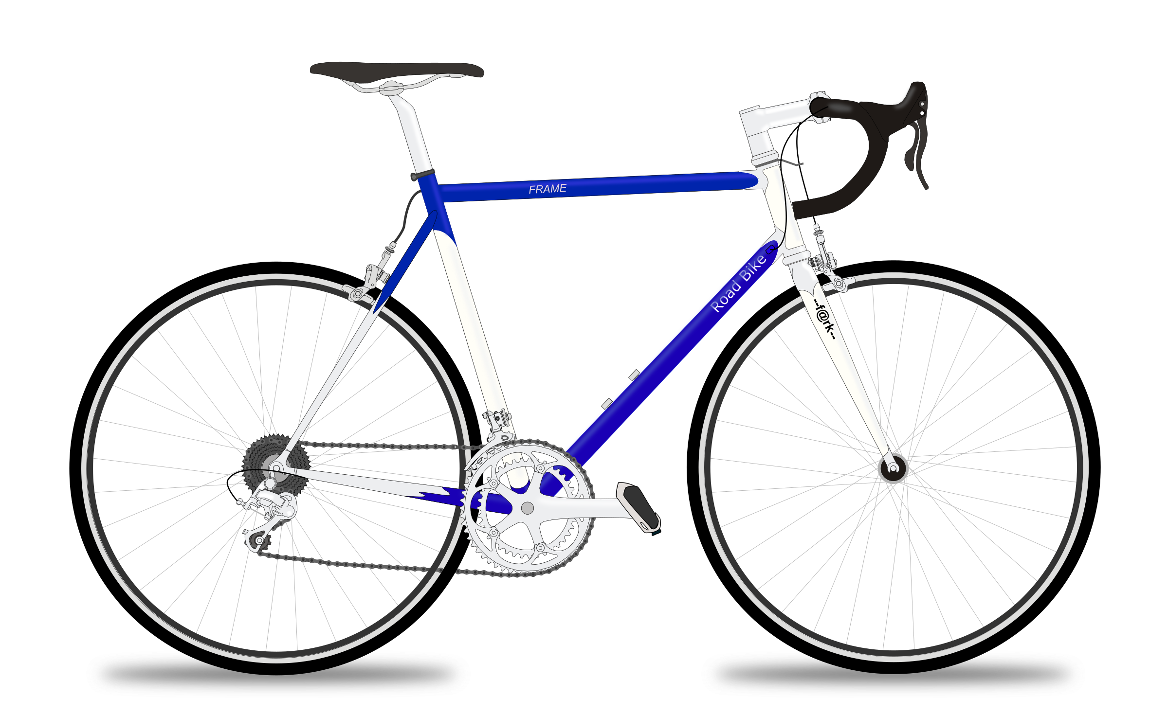 Road bike big image. Cycle clipart rode vector library stock