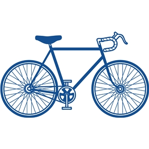 Road bike silhouette at. Cycle clipart rode black and white stock