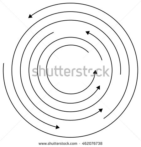 Circular arrows random concentric. Cycle clipart rotation picture royalty free library