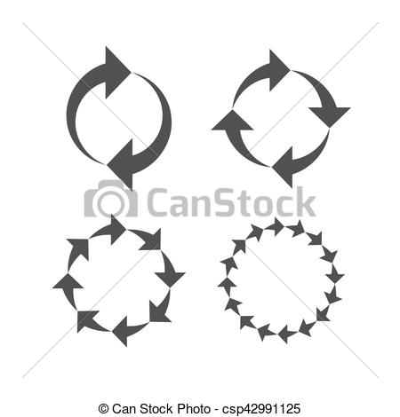 Signs reload refresh circle. Cycle clipart rotation picture black and white download