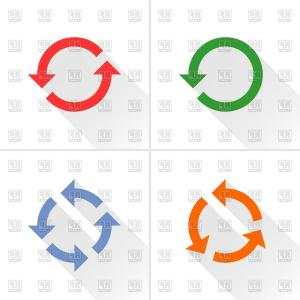 Cycle clipart rotation. And refresh symbols round banner free library