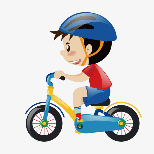 Cycle clipart toddler bike. Cute cartoon children ride