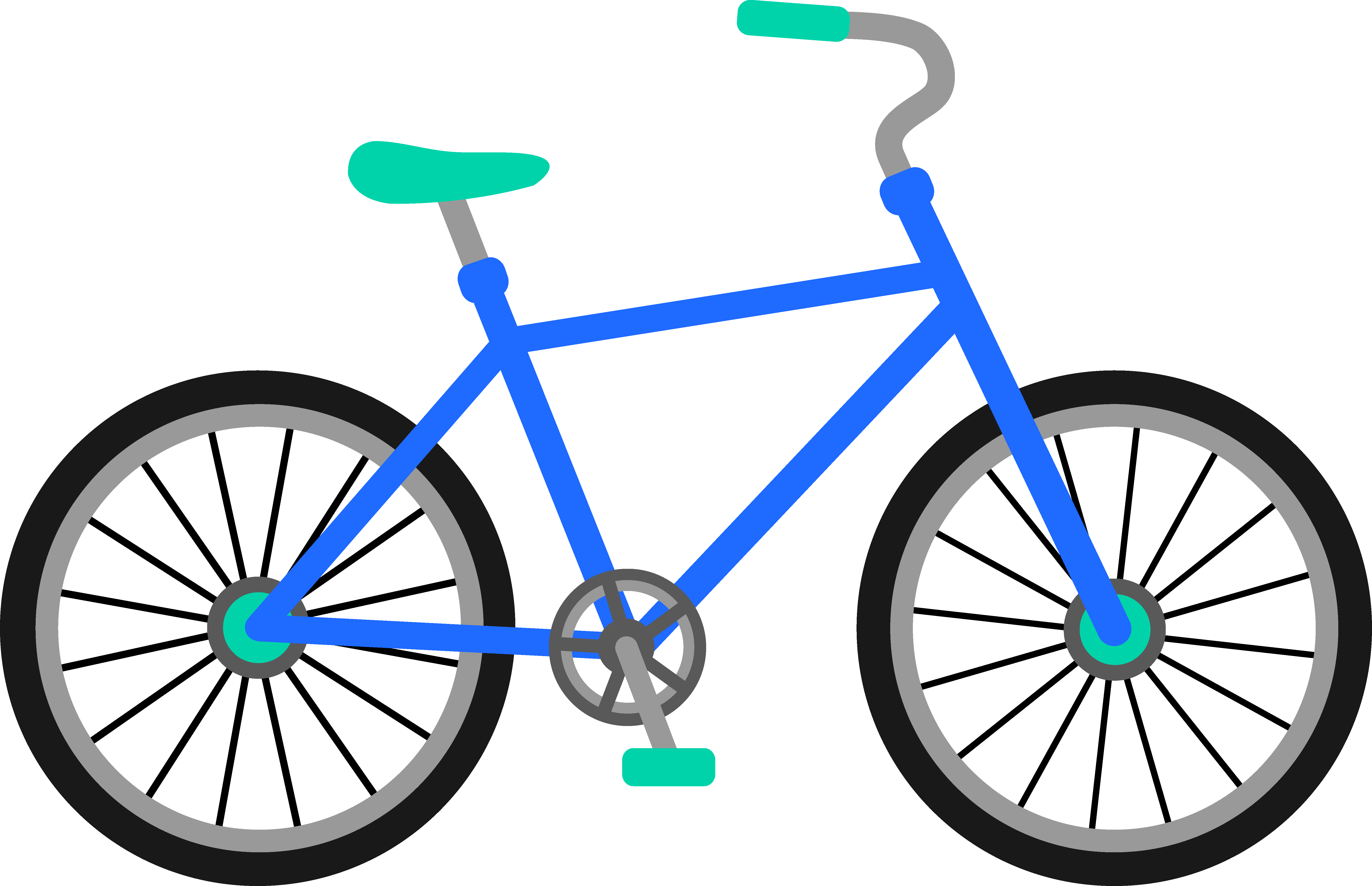 Cycle vector blue bike. Collection of free bilking