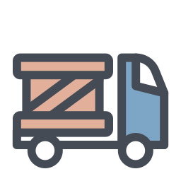 Cycle vector delivery. Time image truck icon