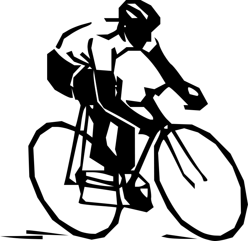 Cyclist silhouette transparent png. Cycling clipart jpg black and white