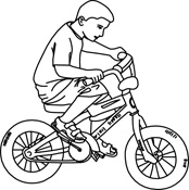 Cycling clipart black and white. Bike panda free images