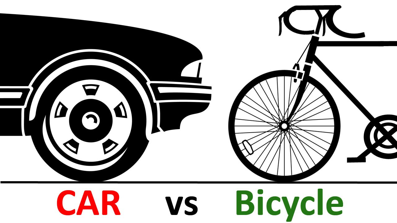 Cycling clipart car bike. Vs bicycle top things png royalty free